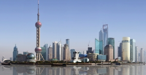 Panoramic view of Shanghai skyline.