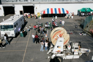 An aerial view of the 2008 Public Power Week celebration.
