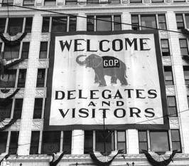 The 1936 welcome banner. (Photo credit: cleveland.com)